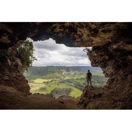 The Rio Grande De Arecibo Valley from Cueva Ventana Atop a Limestone Cliff in Arecibo, Puerto Rico Print Wall Art By Carlo (Best Area To Stay In Puerto Rico 2019)