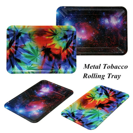 Metal Cigarette Tobacco Rolling Tray Prime Smoking Holder 18*14cm/7*4.9