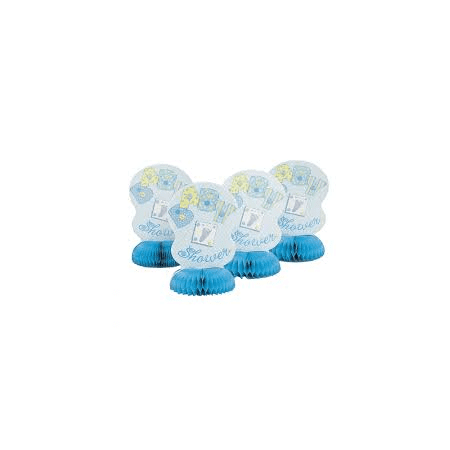 Baby Boy Centerpieces (Lot of 8 Boys Blue Baby Shower Honeycomb Centerpiece)