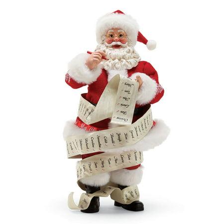 Department 56 Possible Dreams Santa 6000697 Long Winter's List 2018 ()