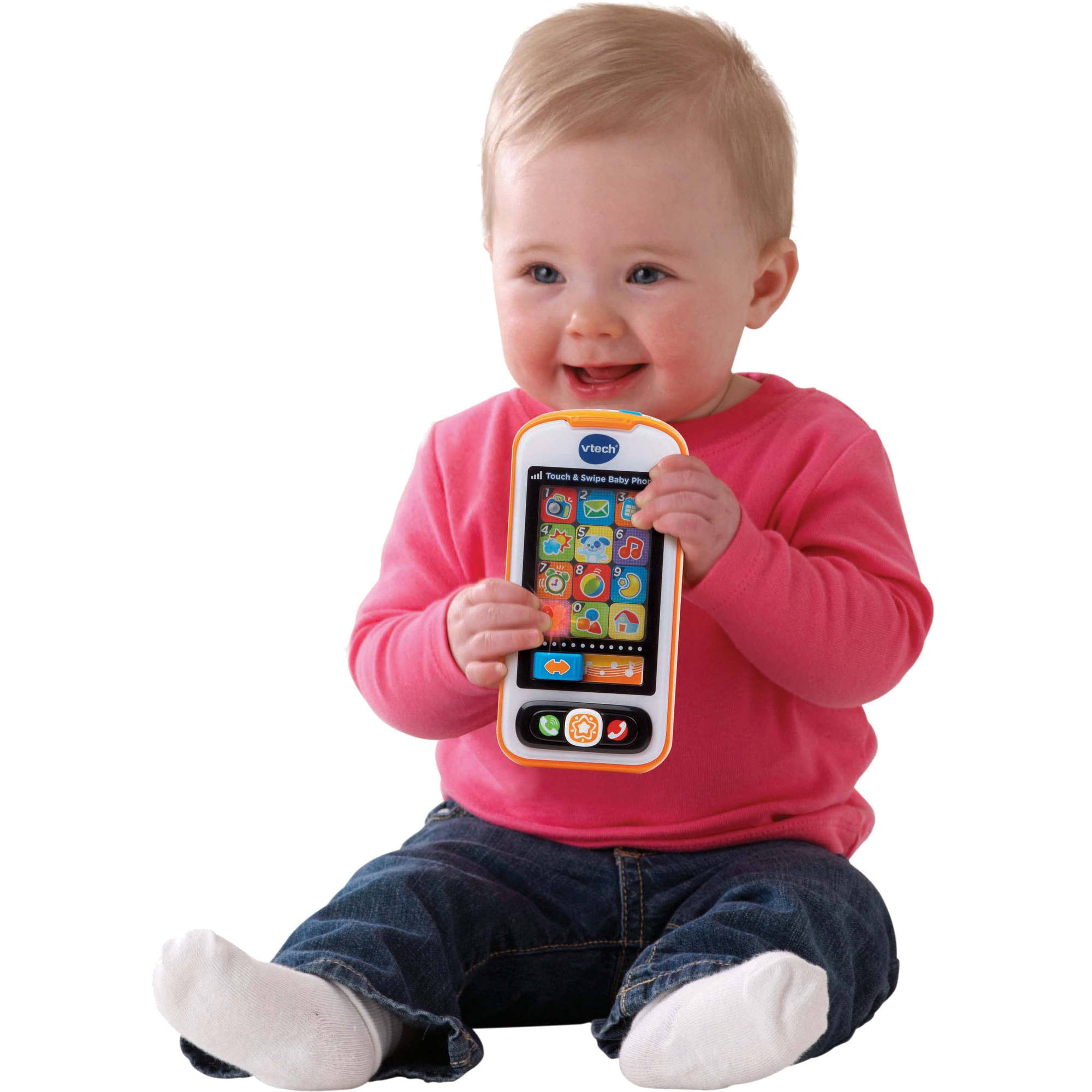 VTech Touch and Swipe Baby Phone, Multi-Color