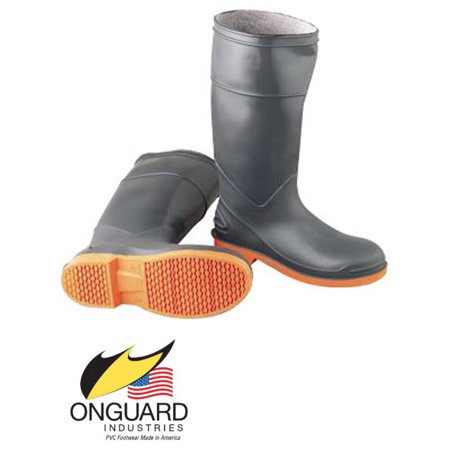 Onguard Industries Size 7 SureFlex Gray 16'' PVC Resistant Knee Boots With Safety-Loc Orange Outsole, Steel Toe And Removable Insole