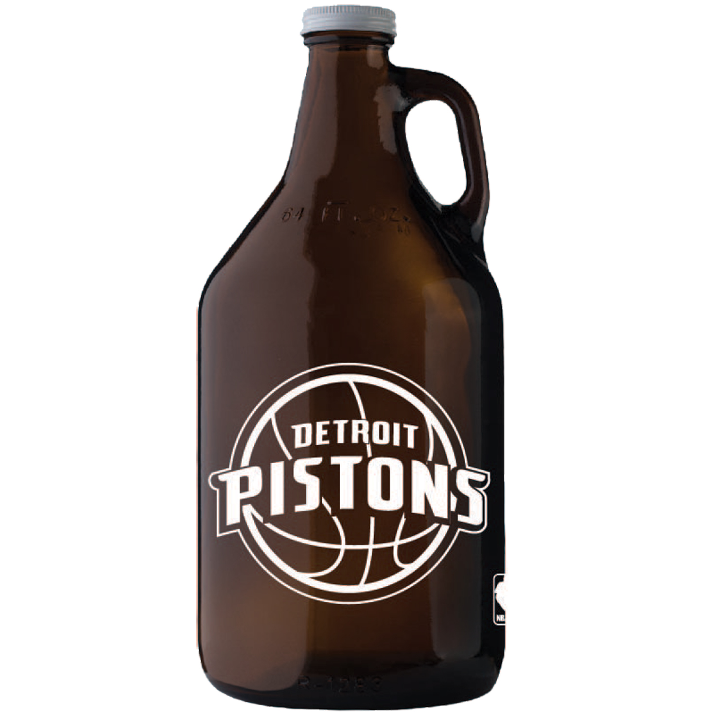 Detroit Pistons 64oz. Glass Jug - Amber - No Size