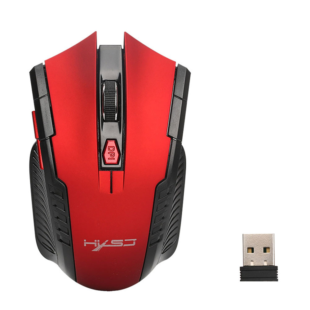 DZT1968 2400DPI 6 Buttons 2.4Ghz Mini Wireless Optical Gaming Mouse For PC Laptop