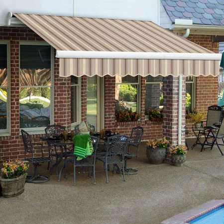 Awntech MAUI 8 ft. Motorized Retractable Awning (Beauty Mark Maui Motorized Awning)