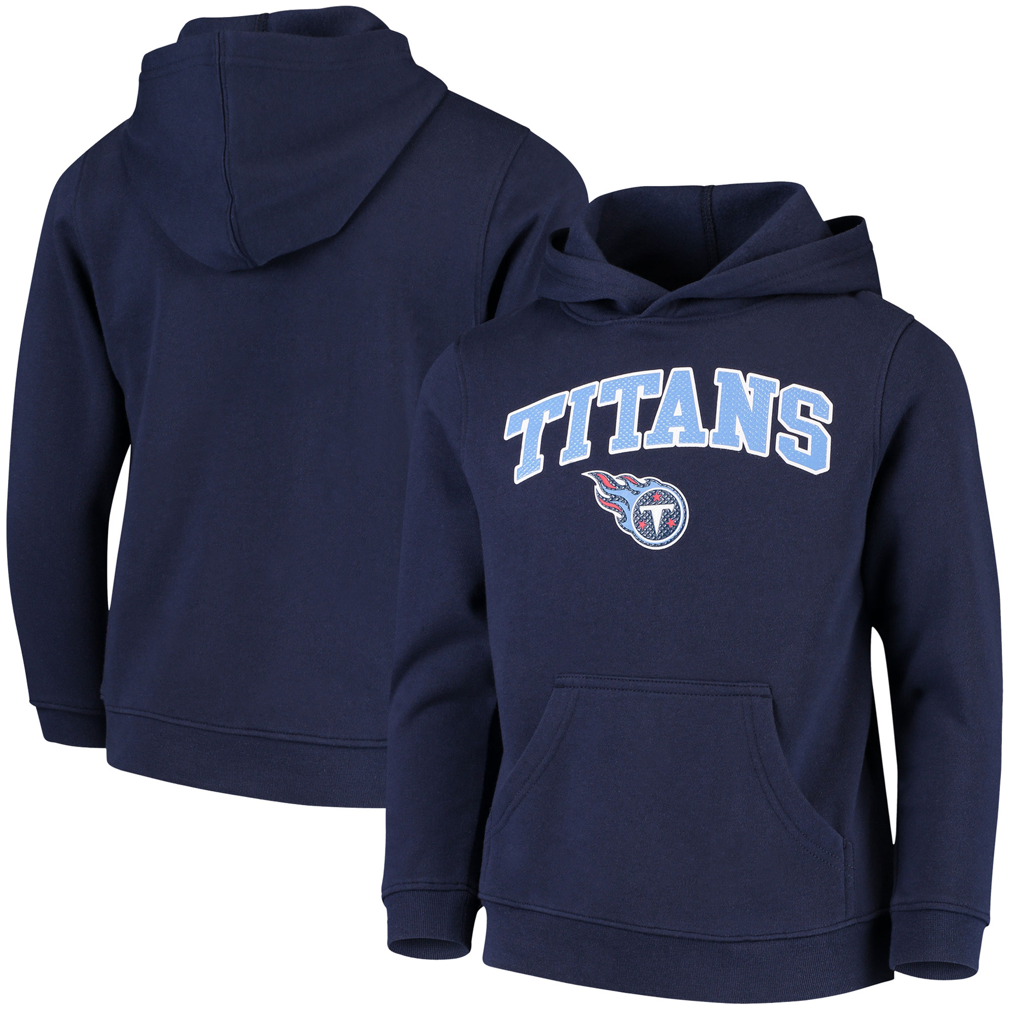 Youth Navy Tennessee Titans Clear Gel Fleece Hoodie