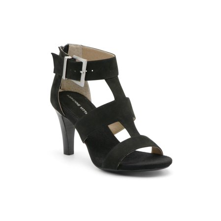Adrienne Vittadini Womens varsity Leather Open Toe Casual Ankle Strap Sandals Ted Leather Sandals