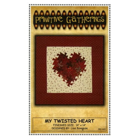 My Twisted Heart Quilt Pattern: Using the Itty Bitty Twister for 14-inch Square