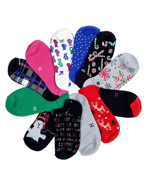 12 Days of Christmas Liner Sock Pack