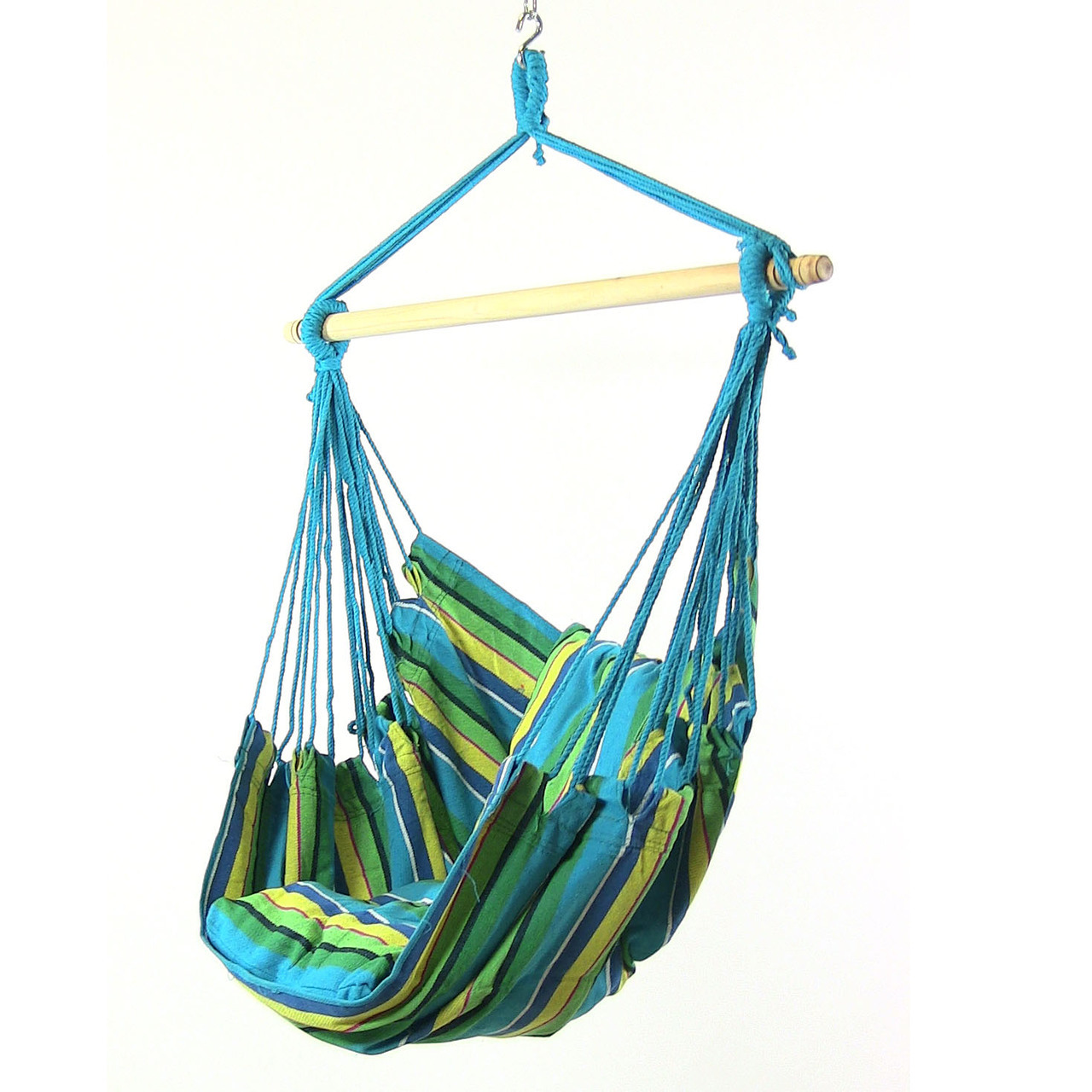 Sunnydaze Hanging Hammock Swing for Indoor Outdoor (Set of 2), Sunset Oasis by Sunnydaze Decor