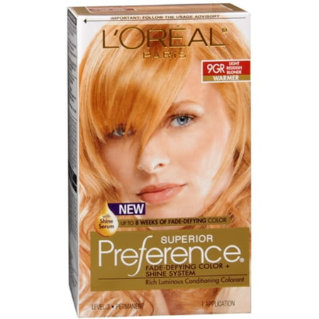 L'Oreal Superior Preference - 9GR Light Reddish Blonde (Warmer) 1 Each](One Direction Halloween Preferences)