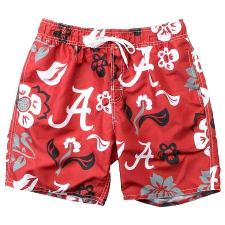 Men's Alabama Crimson Tide Bama Swim Trunks Floral Swim Shorts