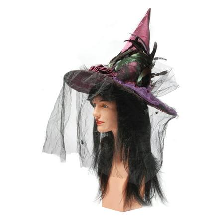 Pink Witch Hat (Loftus Fashion Maroon Witch Hat w Rose & Black)