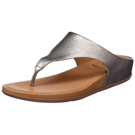 2f375fd3d396 FitFlop - fitflop trade  womens banda leather toe-thong sandals pale gold  size 8 - Walmart.com