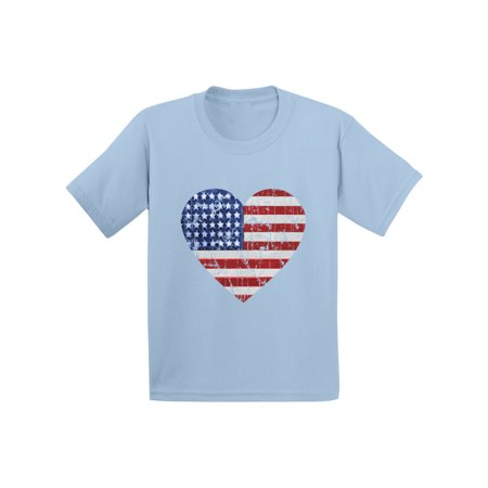 Awkward Styles American Flag Heart Infany Shirt USA Heart Shirts for Baby America Tshirt for Baby Boy 4th of July Shirt for Baby Girl Kids Patriotic Tshirt Cute Independence Day Gifts USA Baby Gifts - 4th Of July Crafts For Toddlers