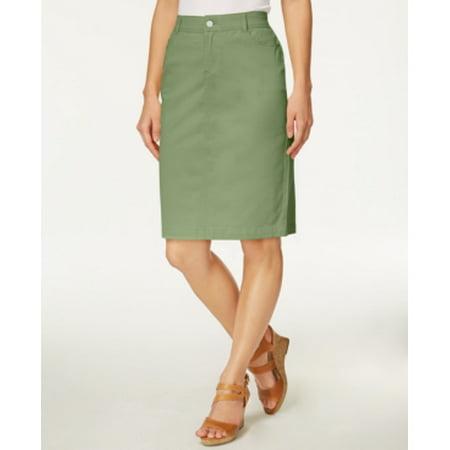 3c2ad39749c7 Charter Club - Charter Club Petite Sage Green Denim Skirt Size 16P -  Walmart.com