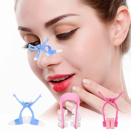 EECOO 3pcs Nose Shaper Massager Clip + Straightening Beauty Clip + Nose Up Clip Correction Set New,Face Beauty Care Tools,Nose Shaping (Ideal Nose For Face Shape)