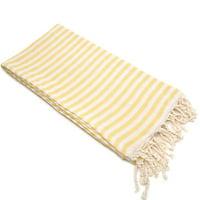 Linum Home 100% Turkish Cotton Fun in the Sun Striped Pestemal Beach Towel