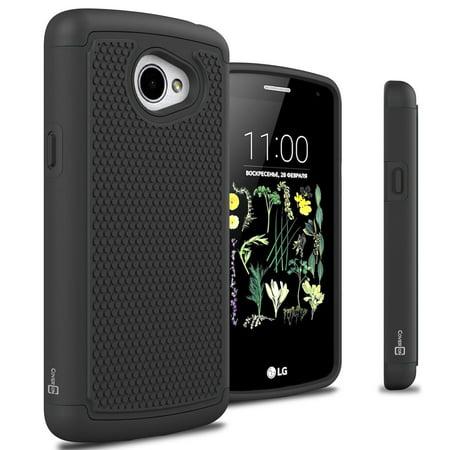 Bk Trans Green (CoverON LG K5 Case, HexaGuard Series Hard Phone Cover)
