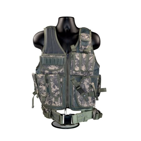 Sniper Shooting Mat (Sniper 600x600 Cross Draw Tactical Molle Vest; Multi-purpose - Hunting; Fishing; Target Shooting-(Camo - Green) )