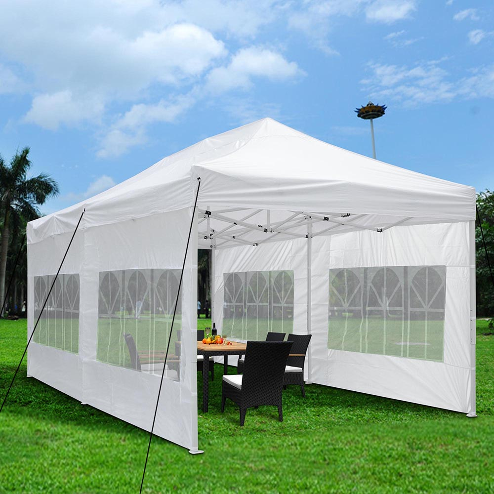 Yescom 10'x20' Easy Pop Up Canopy Folding Gazebo Wedding Party Tent with Removable Sidewall Carry Bag Outdoor