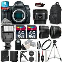 Canon EOS 5D Mark IV Camera + 50mm - 3 Lens Kit + Flash + EXT BAT + 2yr Warranty