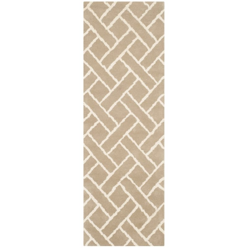 Safavieh Chatham 4' X 6' Hand Tufted Wool Rug in Beige and Ivory - image 8 of 10
