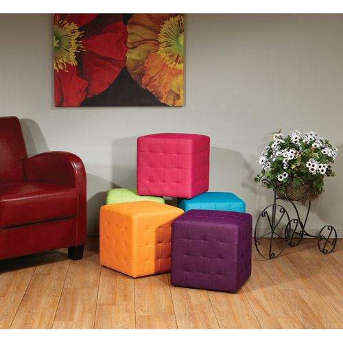 "Avenue Six Detour 15"" Fabric Cube, Multiple Colors"