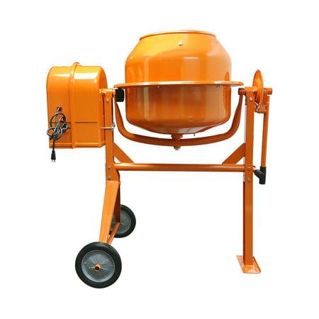 HD Portable Electric 3-1/2 Cubic Feet Steel Stucco Concrete Cement Mixer Contractor (Electric Mortar Mixer)