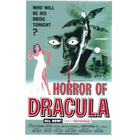 Horror Of Dracula Movie Poster  11 X 17