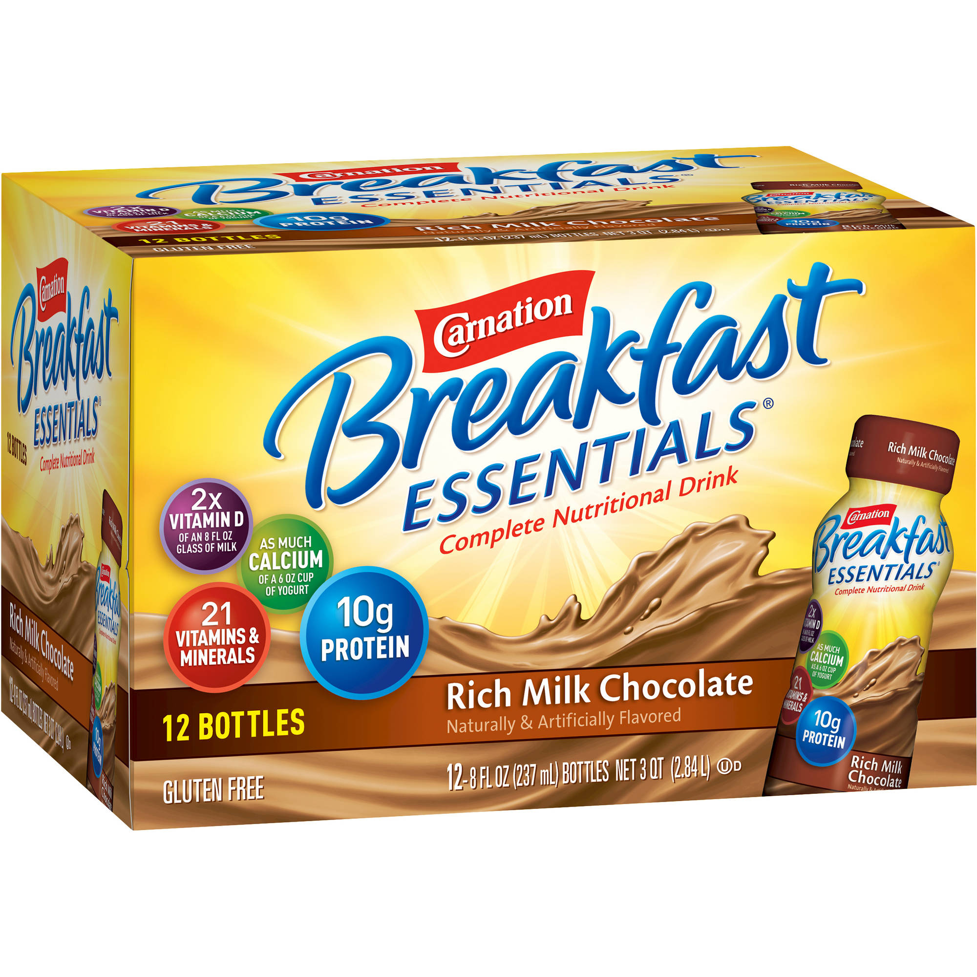 Carnation Breakfast Essentials® Rich Milk Chocolate Complete Nutritional Drinks, 8 fl oz, 12 count