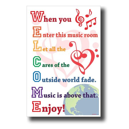 WELCOME - When You Enter This Music Room... NEW Music Classroom Poster