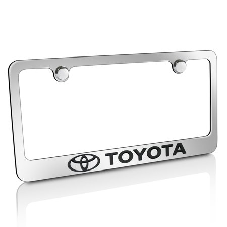 Toyota Logo Chrome Metal License Plate Frame