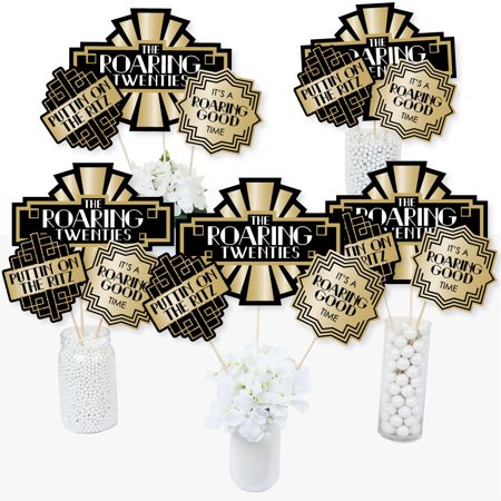 Roaring 20's - 1920s Art Deco Jazz Party Centerpiece Sticks - Table Toppers - Set of - 1920s Centerpieces