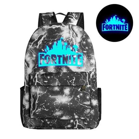 Game Fortnite Battle Royale Backpack Luminous Fortnite School Bags  Lightning gray