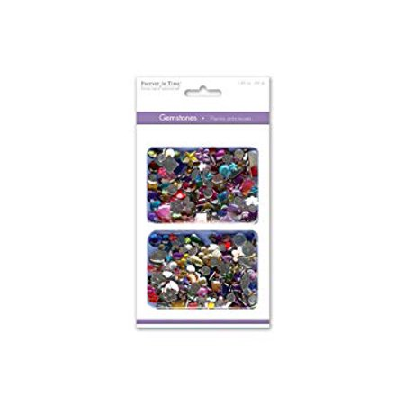 Forever In Time Gemstone Embellishments, Assorted Shapes, Colors and Sizes, 30gm - Gem Shapes