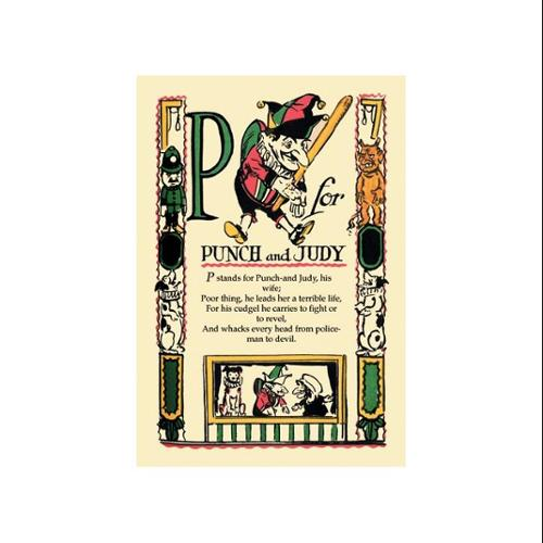 P For Punch And Judy Print (Unframed Paper Poster Giclee 20x29)