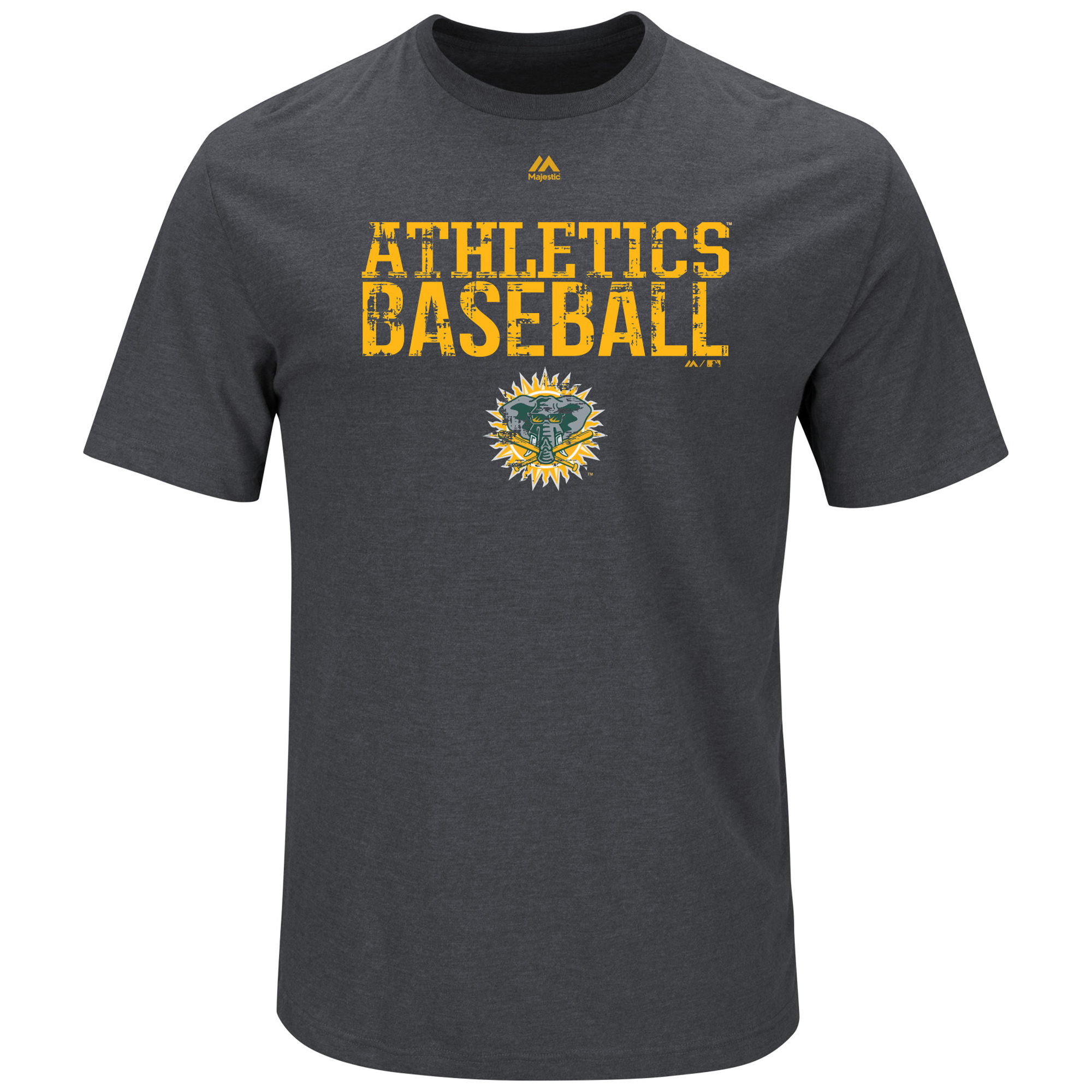 Oakland Athletics Majestic Cooperstown One Winner T-Shirt - Charcoal