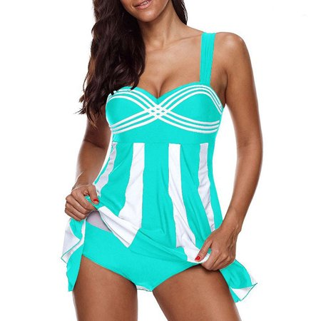 Women Beach Swimming Suit Bikini Stripe Tankini (Swim Suit Woman)