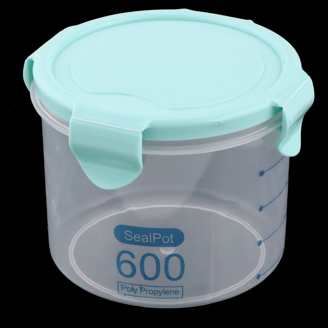 Home PP Cylinder Sealed Candy Fruit Food Storage Container Box Case Cyan 600ml - image 3 de 4