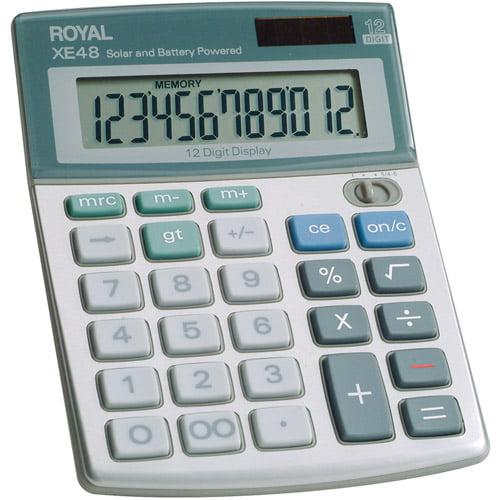 Royal Compact Desktop Solar Calculator, 29306S