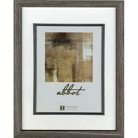 Timeless Decor Abbot Gray Picture Frame, 4 x 6 to 6 x 8 Inches (Hp Picture Frame)