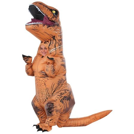 Jurassic World Childs Inflatable T Rex Dinosaur Boys Costume With Sound
