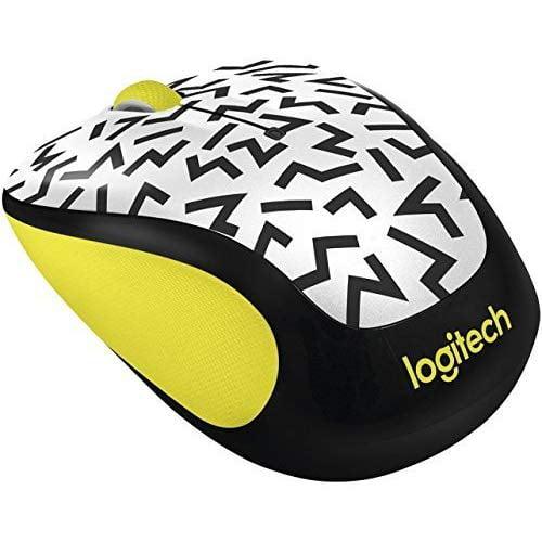 Logitech M325C Wireless Mouse Yellow Zigzag 910-004689 White Mini DLX302