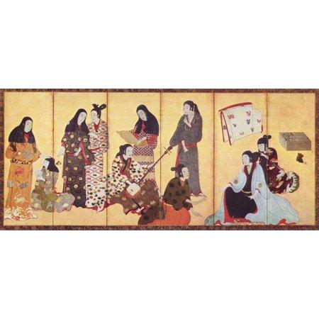 Framed Art for Your Wall Iwasa Matabei - Matsuura Byobu (control screen) [2] 10 x 13 -