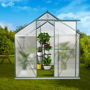 Best Greenhouse Kits - JULY'S SONG Greenhouse,6'x 8' Polycarbonate Walk-in Plant Greenhouse Review