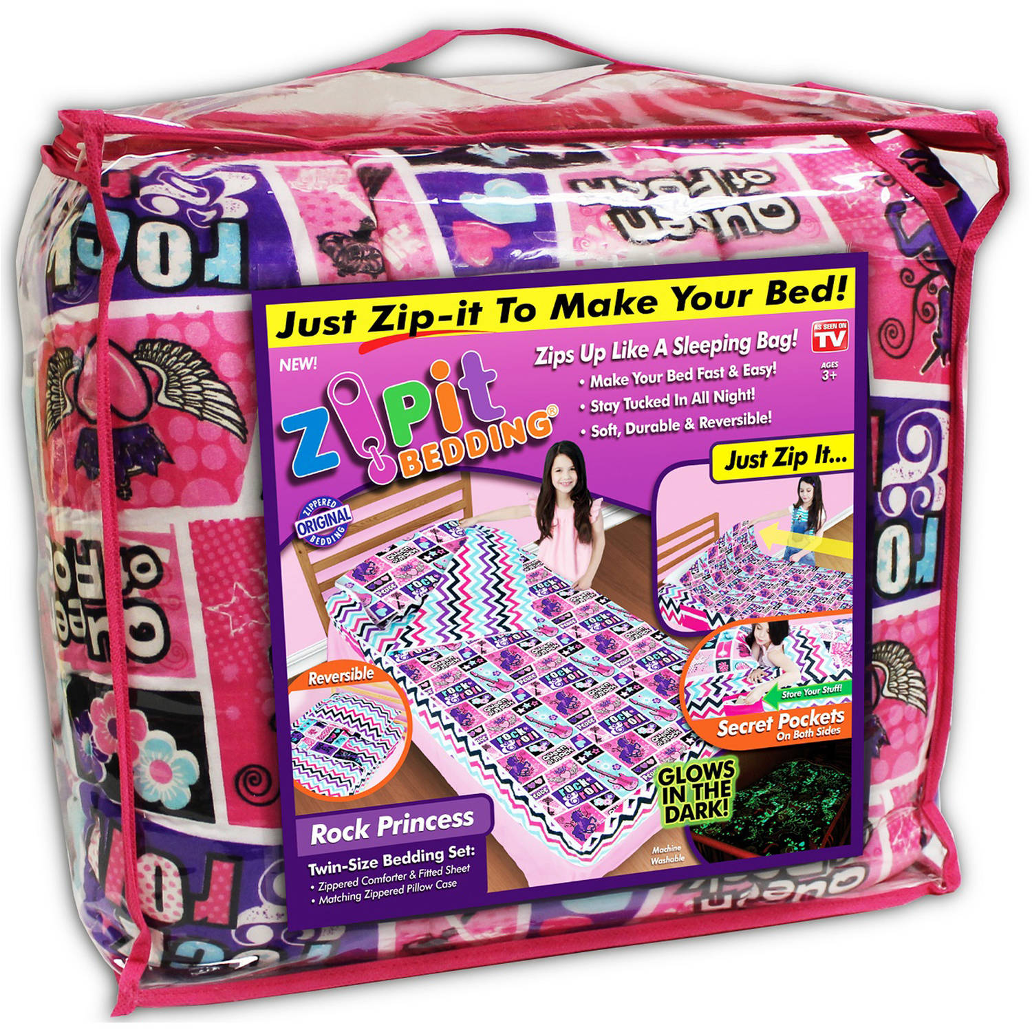 As Seen on TV Zip It Bedding, Rock Princess