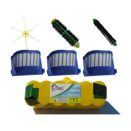 iRobot Roomba 536 Battery, Filter, Bristle Brush, Beater Brush and 6-Arm Brush - Kit Includes 1 Battery, 3 AeroVac Filter, 1 Bristle Brush, 1 Beater Brush and 1 6-Arm Brush - image 4 de 4