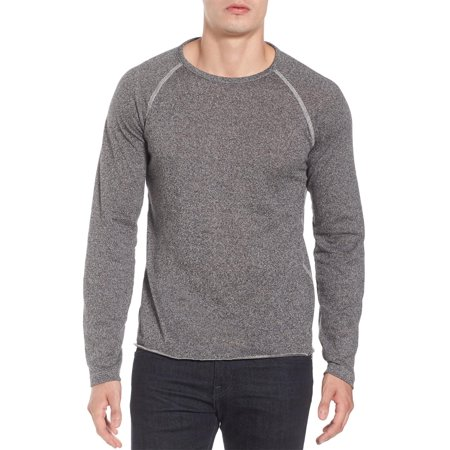 (Billy Reid Long Raglan Sleeve Crewneck T-Shirt Medium Grey Melange)