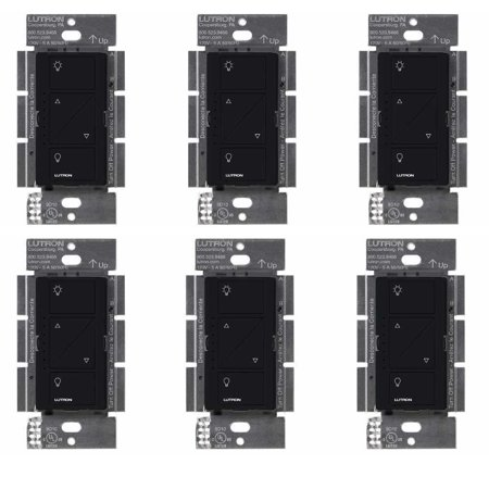 Lutron Caseta Wireless Smart Lighting Dimmer Switch (6 pack) (Black)